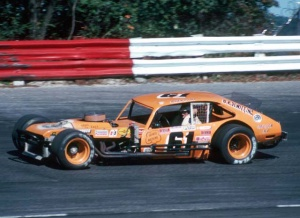 Richie Evans won the Open Modified portion of the 2nd Super Star Series event in 1979. Howie Hodge photo 1980.